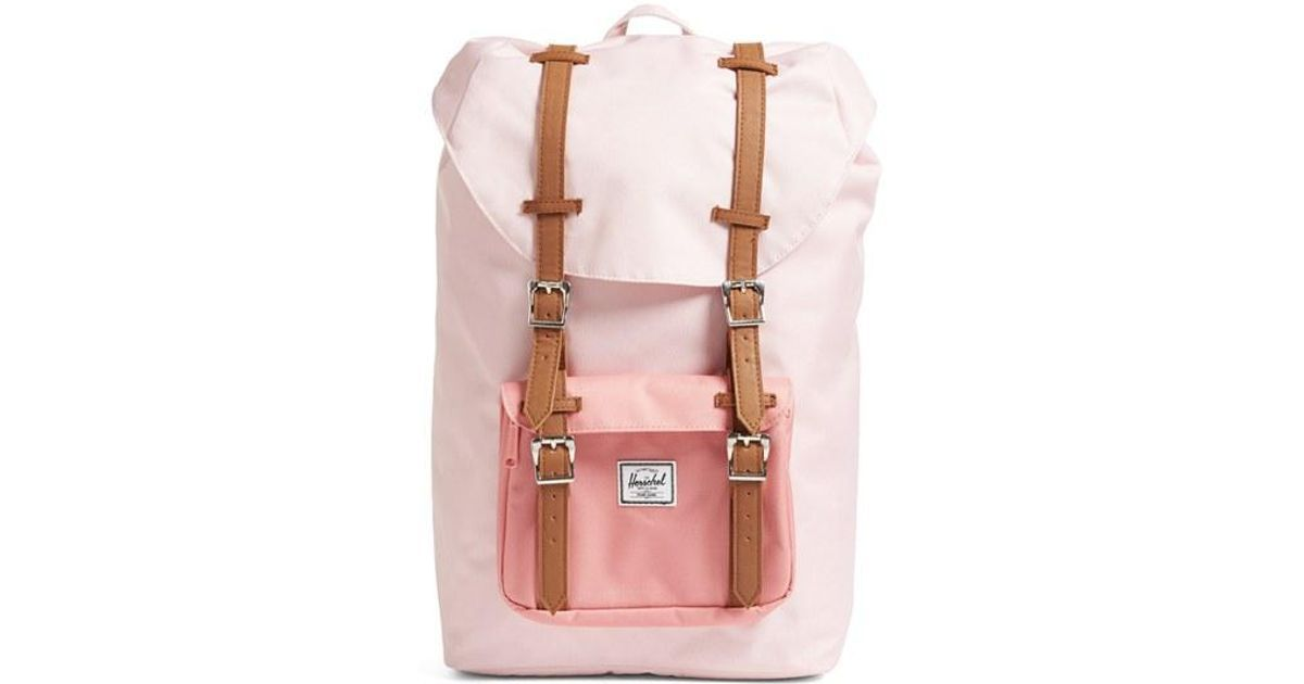 cc02a3ec185c Buy Herschel Supply Co. Women s Pink Little America - Mid Volume Backpack