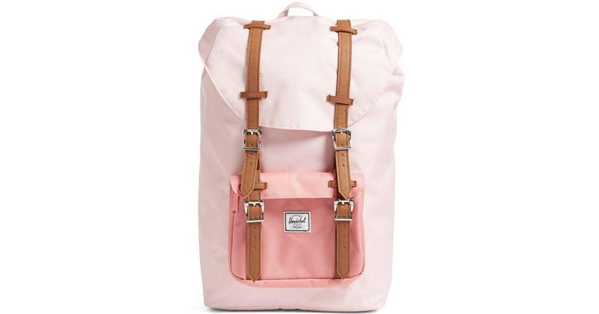 3ee671be5e562 Buy Herschel Supply Co. Women s Pink Little America - Mid Volume Backpack