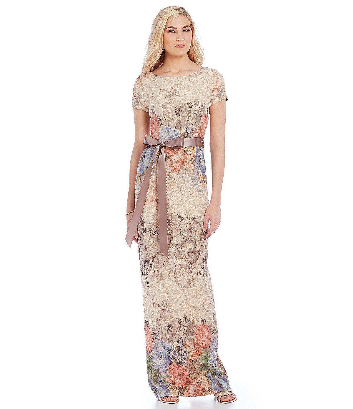 Adrianna Papell Melinda Matelasse Column Gown   Dillards.com   MOG ...
