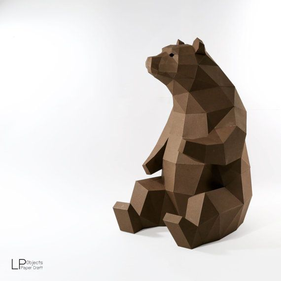 bear model animal model bear lowpoly bear baloo papercraft diy low poly trophy. Black Bedroom Furniture Sets. Home Design Ideas