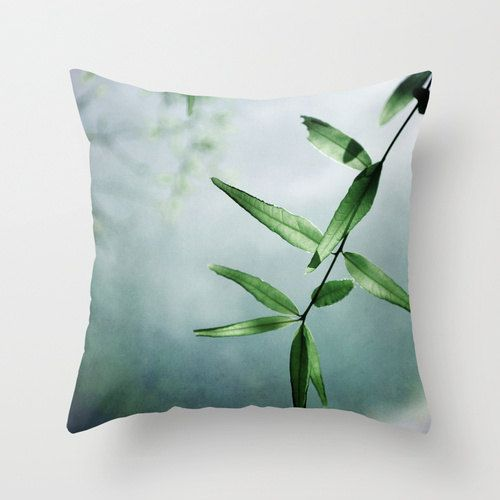 Pillow Cover Nature Photo Pillow Teal Olive by KalstekPhotography