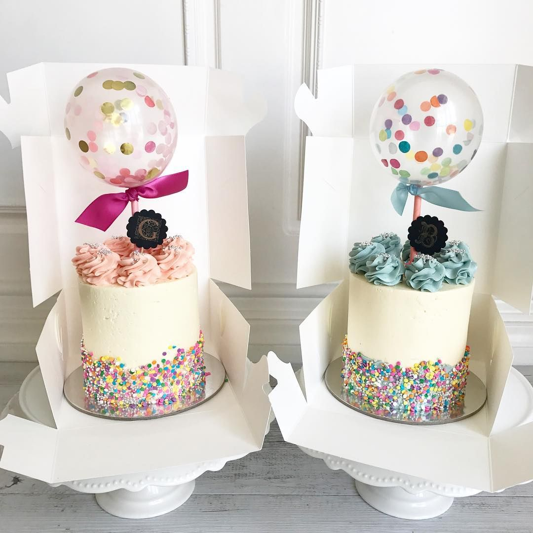 Awesome Cake Accompaniments Mini Confetti Balloon Toppers