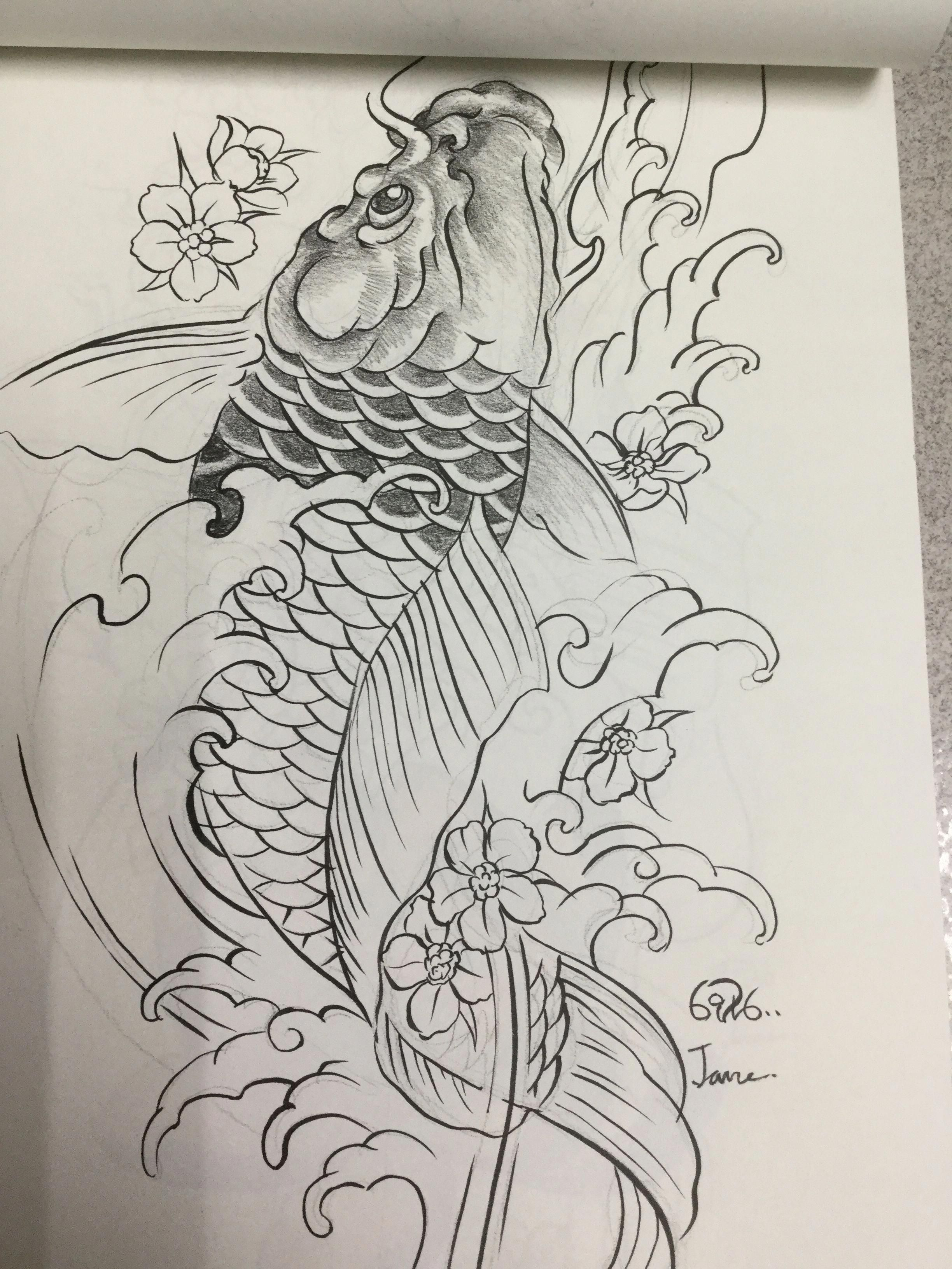 Japanesekoidragontattoo Koi Dragon Tattoo Japanese Koi Fish Tattoo Koi Tattoo Design