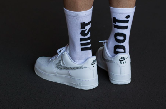 The Nike Air Force 1 Low Just Do It White Is A Clean Pair