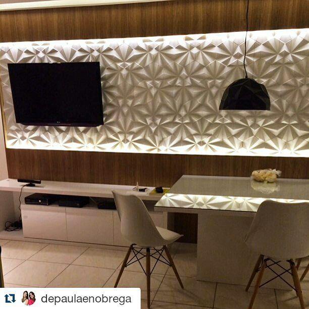 Resultado de imagem para sala revestimento 3d decora o for Revestimento 3d sala de estar