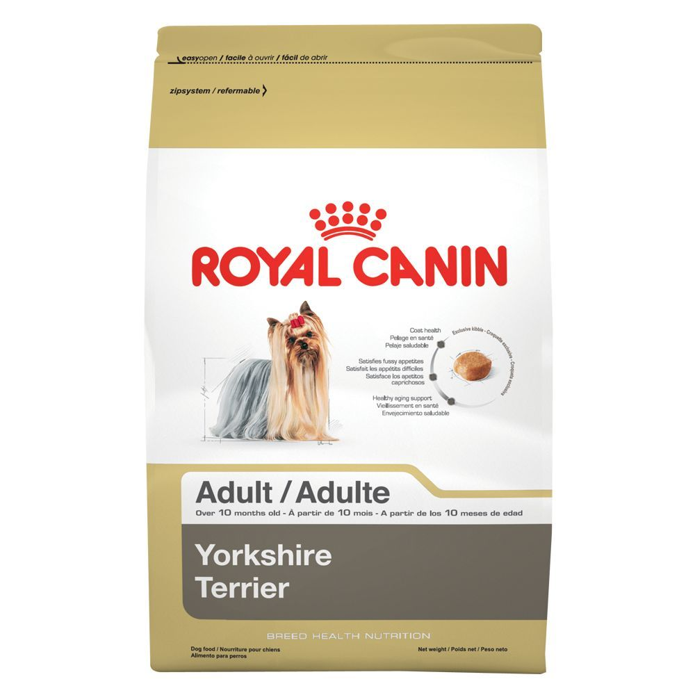 Royal Canin Breed Health Nutrition Yorkshire Terrier Adult Dog Food Size 10 Lb Beet Brown Copper Chicken Yorkshire Terrier Terrier Yorkshire Terrier Puppies