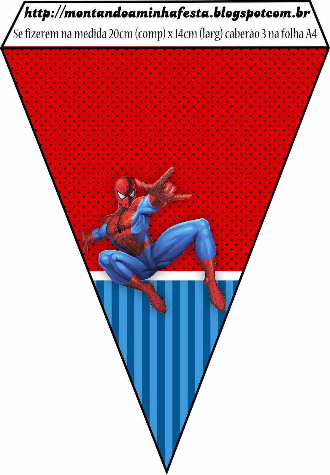 Montando minha festa: kit grátis para imprimir homem aranha | Homem ...