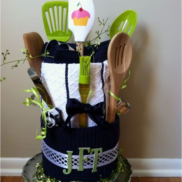 A diy cake for a cooking baking themed wedding shower for Kitchen gift ideas under 50