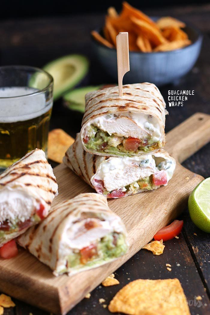 Guacamole Hähnchen Wraps | Bake to the roots