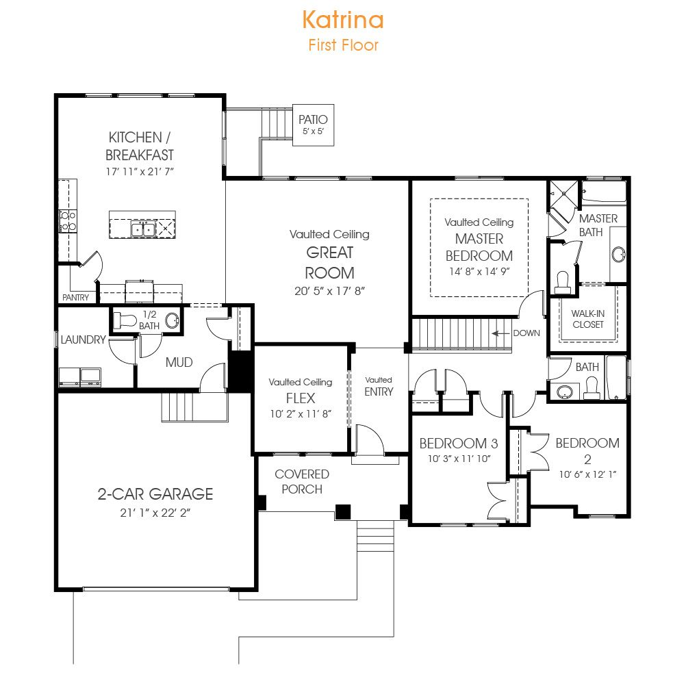 Katrina | Rambler House Plan Utah Home | EDGE Homes | Floor Plans ...