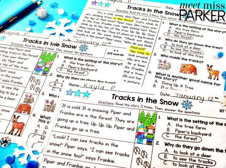 Differentiated Reading Passages and Questions Winter 1st