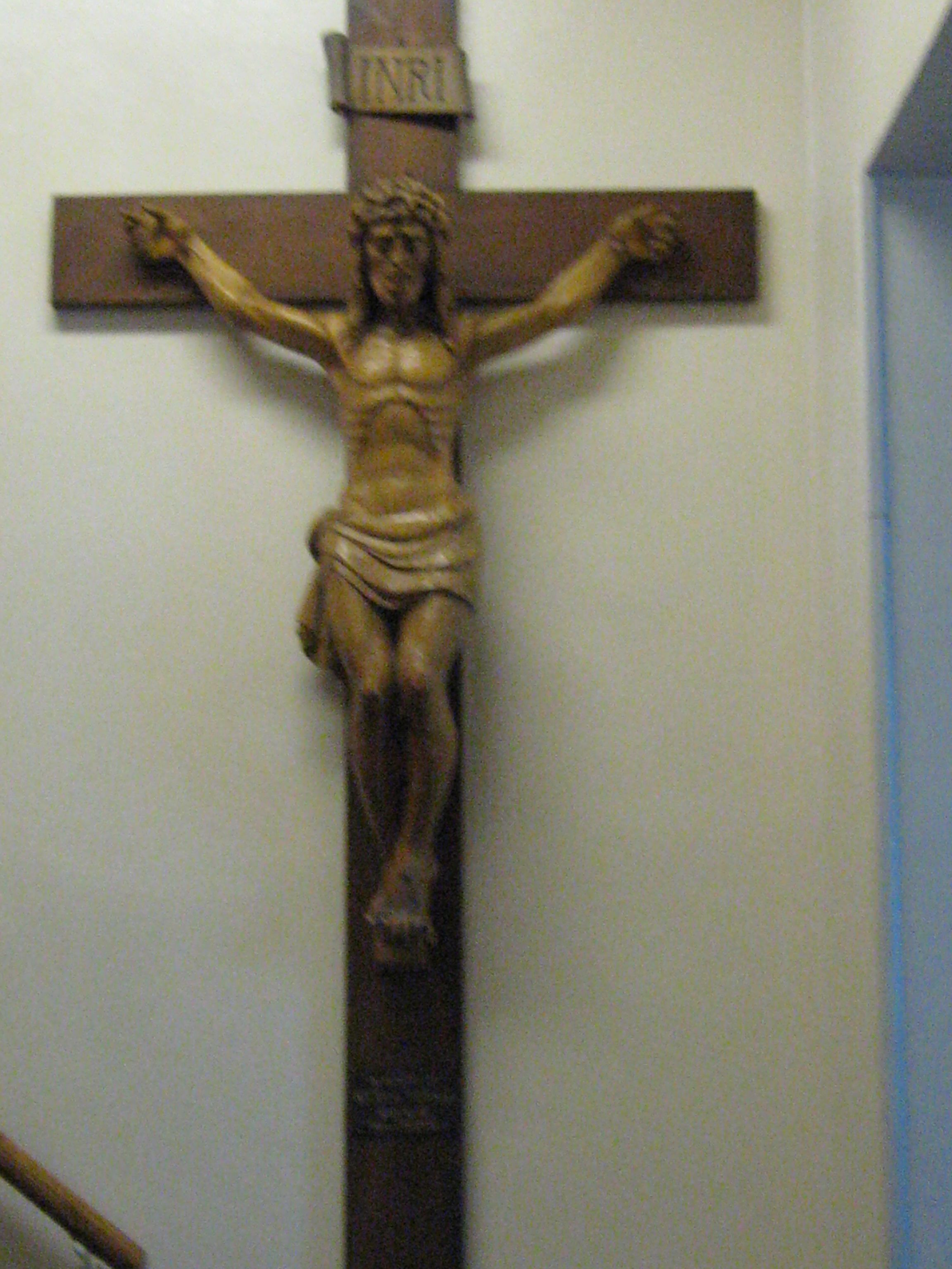 Crucifix at Corpus Christi Parish in Portchester, NY modeled after ...