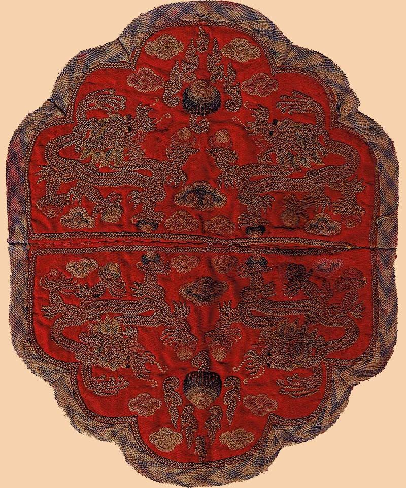 5c8ab23e3 Extremely fine silk embroidery with silver thread. Made for Tibetan  Monastery. Ming Dynasty 1368- 1644 A.D