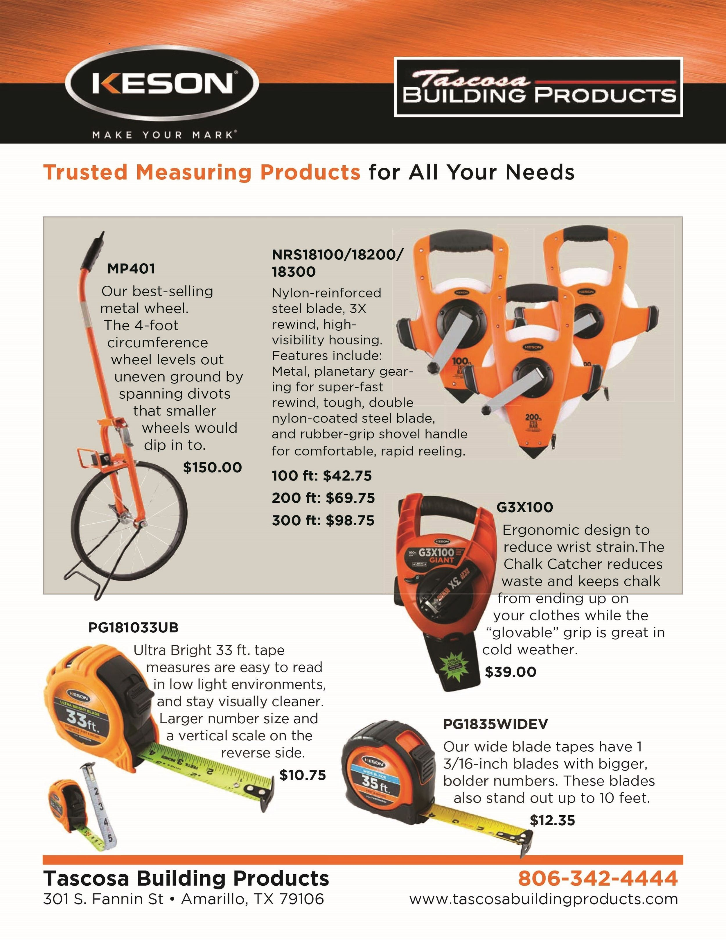Keson trusted measuring products trust rewind