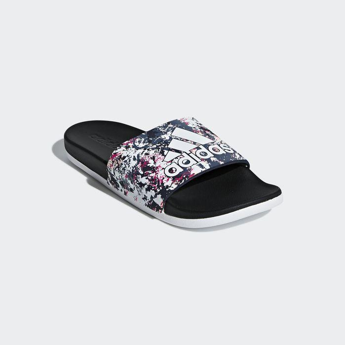 Adilette Comfort Slides White Womens | Adidas slides, Sport