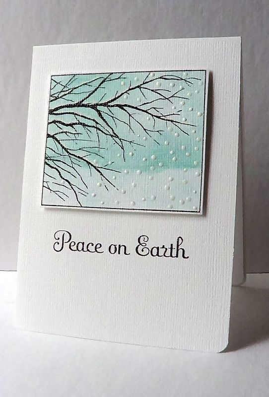 I'm in Haven: Peace on Earth...a Redo and a Give-away! | Memory Box Snowy Branches E1419 http://memoryboxco.com/product_detail.asp?id=E1419