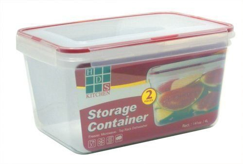 Hds Trading Rect Storage Container 4 0 Liter Plastic Finish Hds Trading Sc10637 By Hds T Kitchen Storage Organization Home Kitchens Kitchen Storage