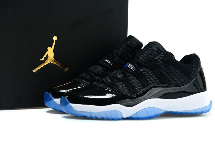 air jordan 11 retro black white blue