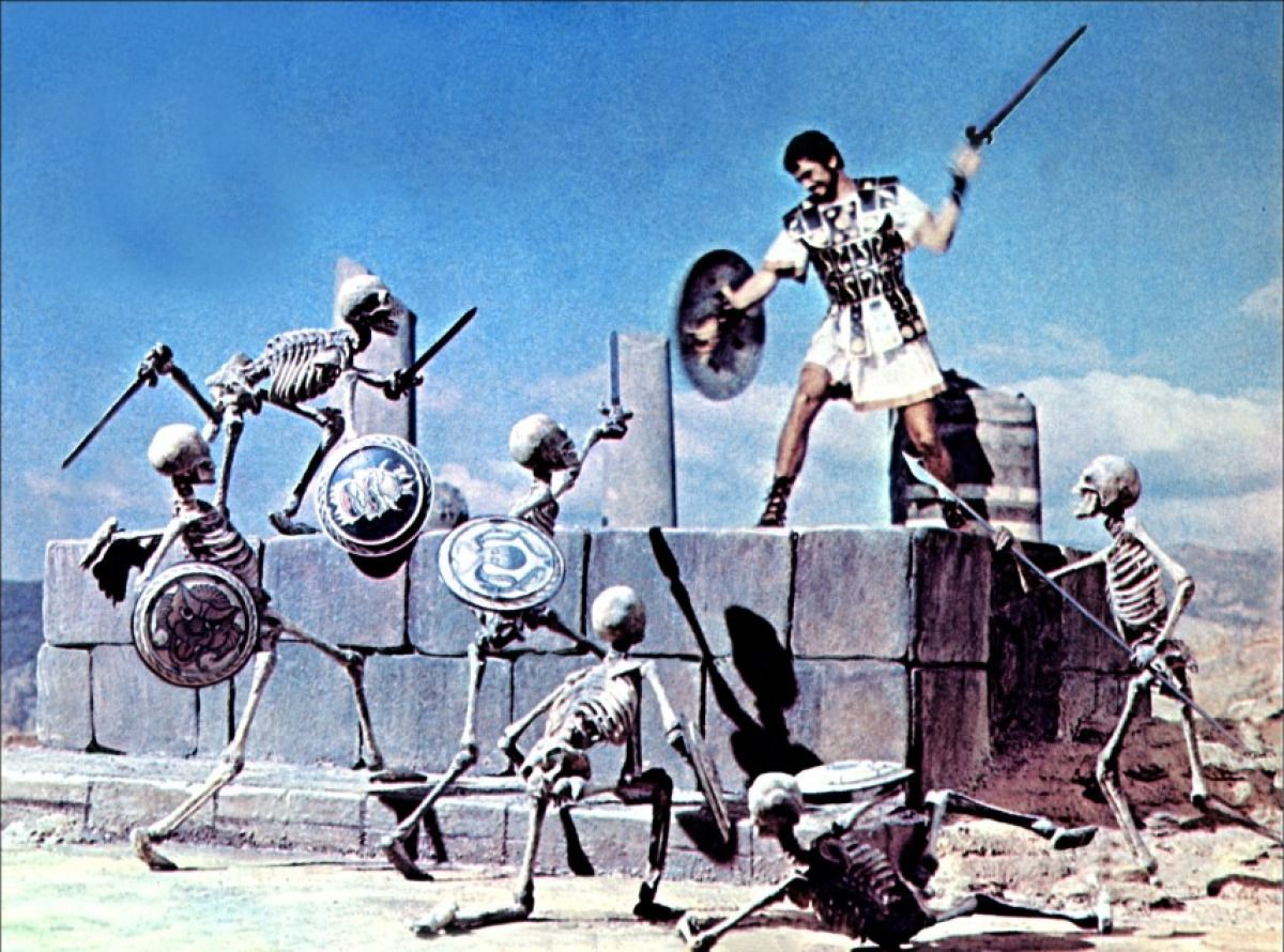 Image result for harryhausen skeletons