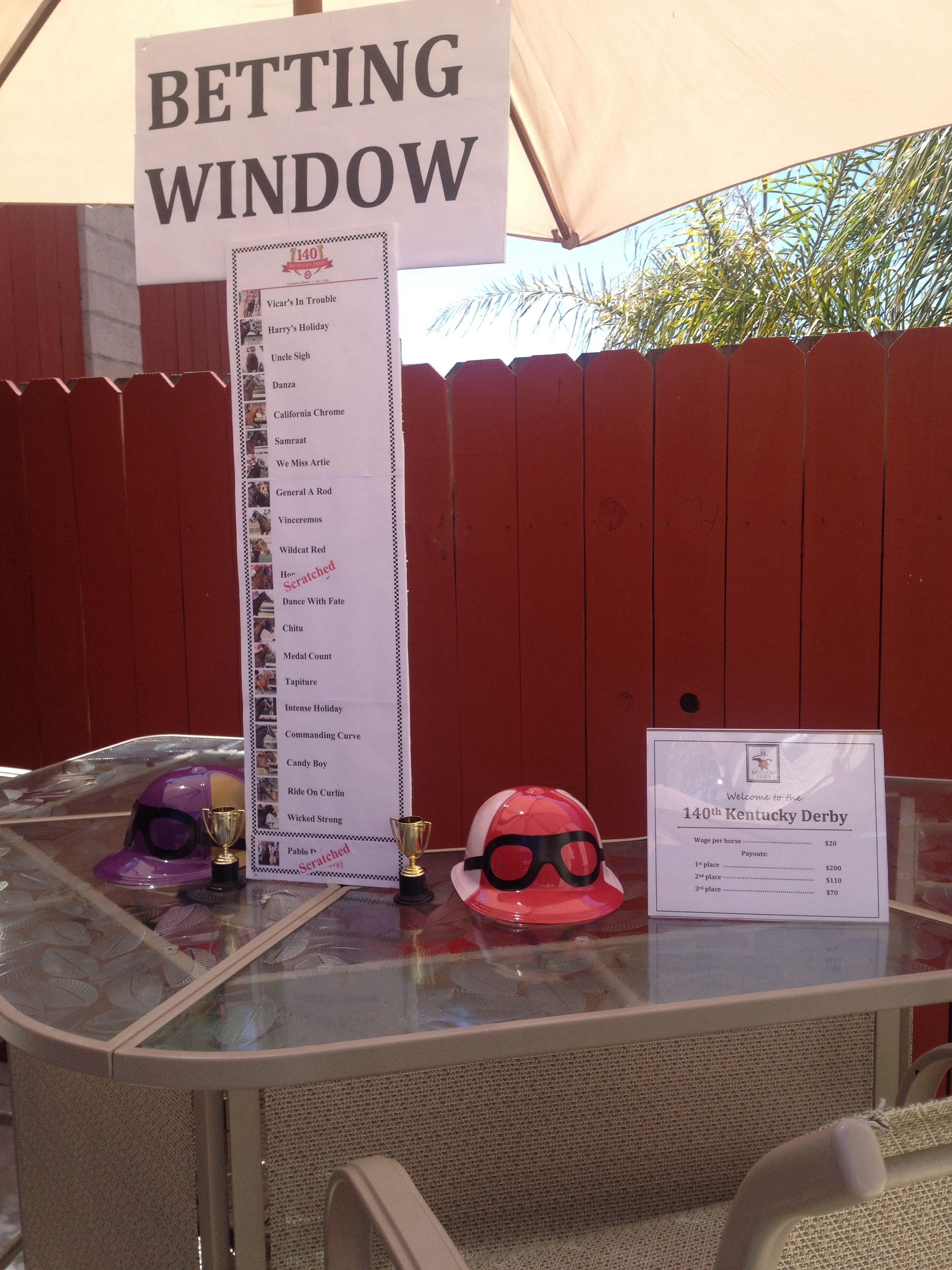 betting ideas for kentucky derby party