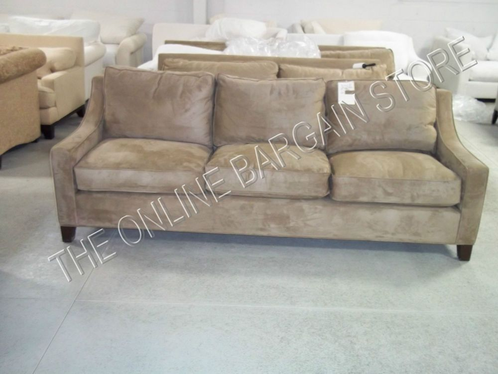 Pottery Barn Payton Sofa Couch Light Wheat Everyday Suede
