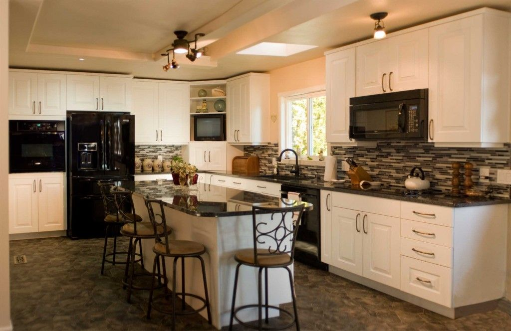 black appliances and white or gray cabinets how to make it work kitchen cabinets with black on kitchen remodel appliances id=48015