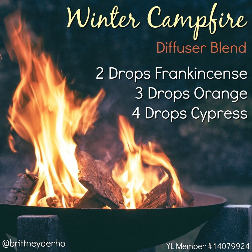 Winter Campfire Diffuser Blend to warm up on those cold, winter nights. Can't wait to try this! #essentialoils #diffuser #youngliving #Aromatherapy #winterdiffuserblends