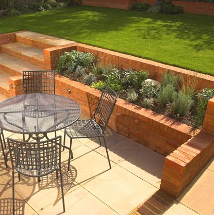 retaining walls on a slope | Retaining walls Brisbane, Retaining walls, Landscaping