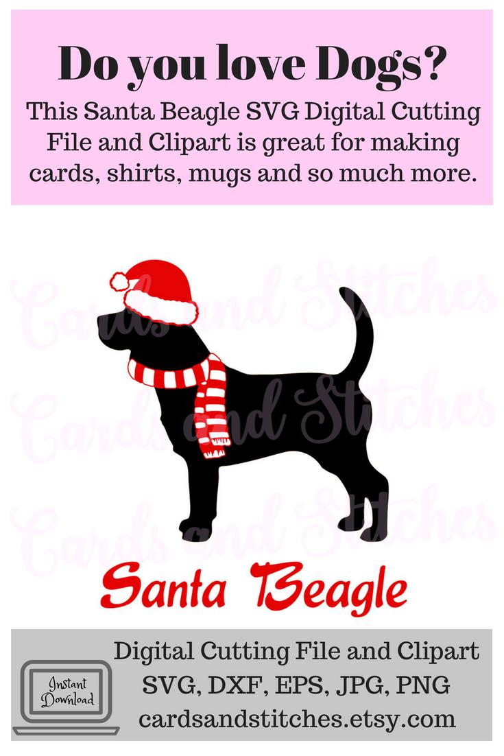 Christmas Beagle Clipart.Santa Beagle Svg Christmas Dogs Svg Beagle Svg Dog