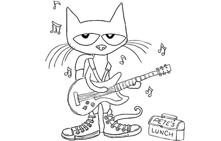 Petethecat Coloringpages Coloring Kidscoloringpages Pete The Cat Shoes Pete The Cat Cat Coloring Page