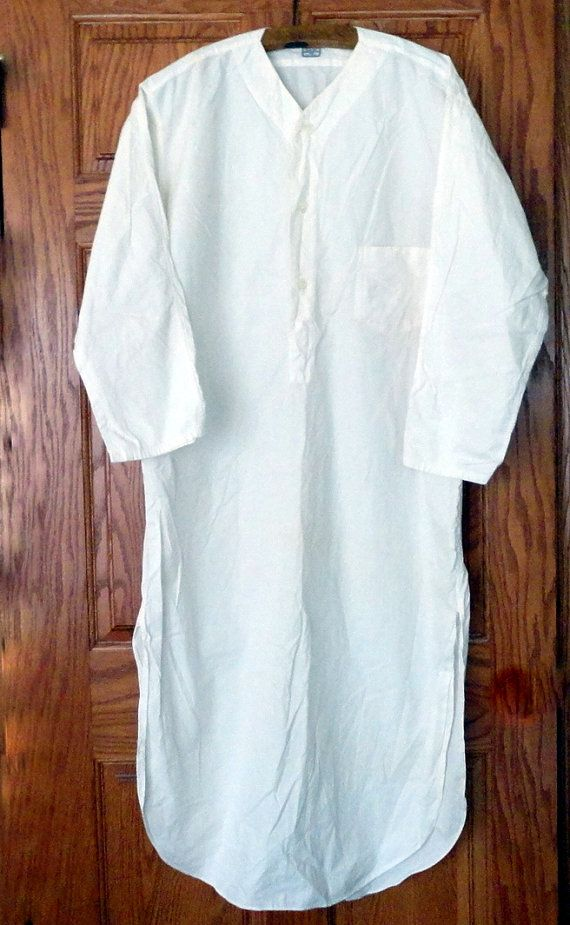 28bcd15c65 Vintage HILL MUSLIN White Cotton Nightshirt Nightdress Edwardian ...