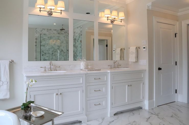 Love This All White Bathroom With Double Vanity Also Love The Vintage Looking Taps Bathroom