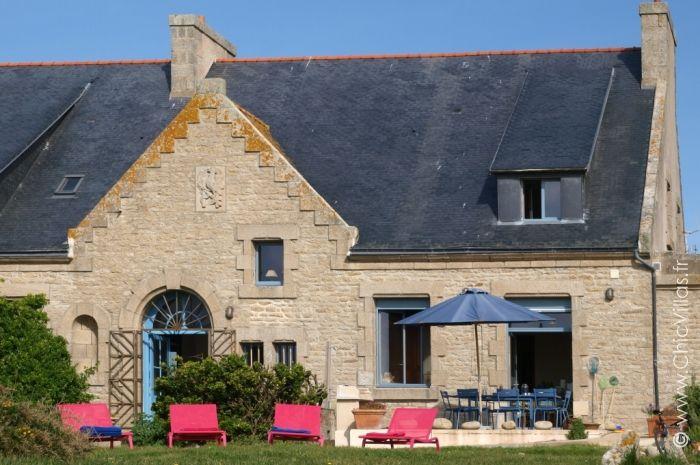 Demeure de charme front de mer et accès plage en Bretagne Natural - plan d une maison en 3d