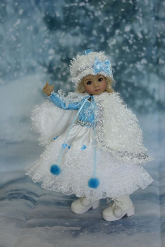 """""""Princess Snowflake"""" Holiday Dress, Outfit for 13"""" Dianna Effner Little Darling"""