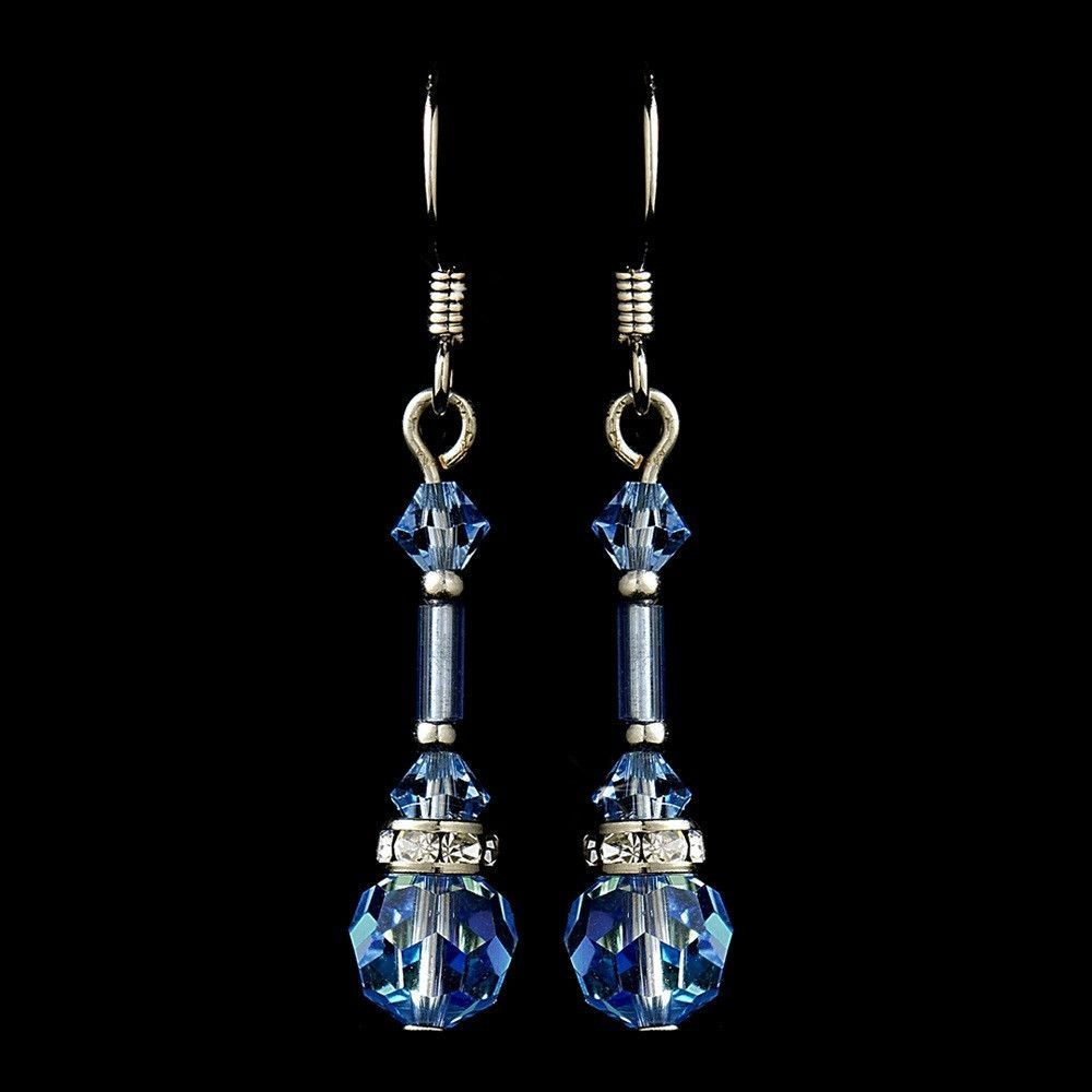 These Sparkling Light Blue Swarovski Crystal Earrings Are The Perfect Way To Bring An Extra Touch Of Romance Your Wedding Day For Classic