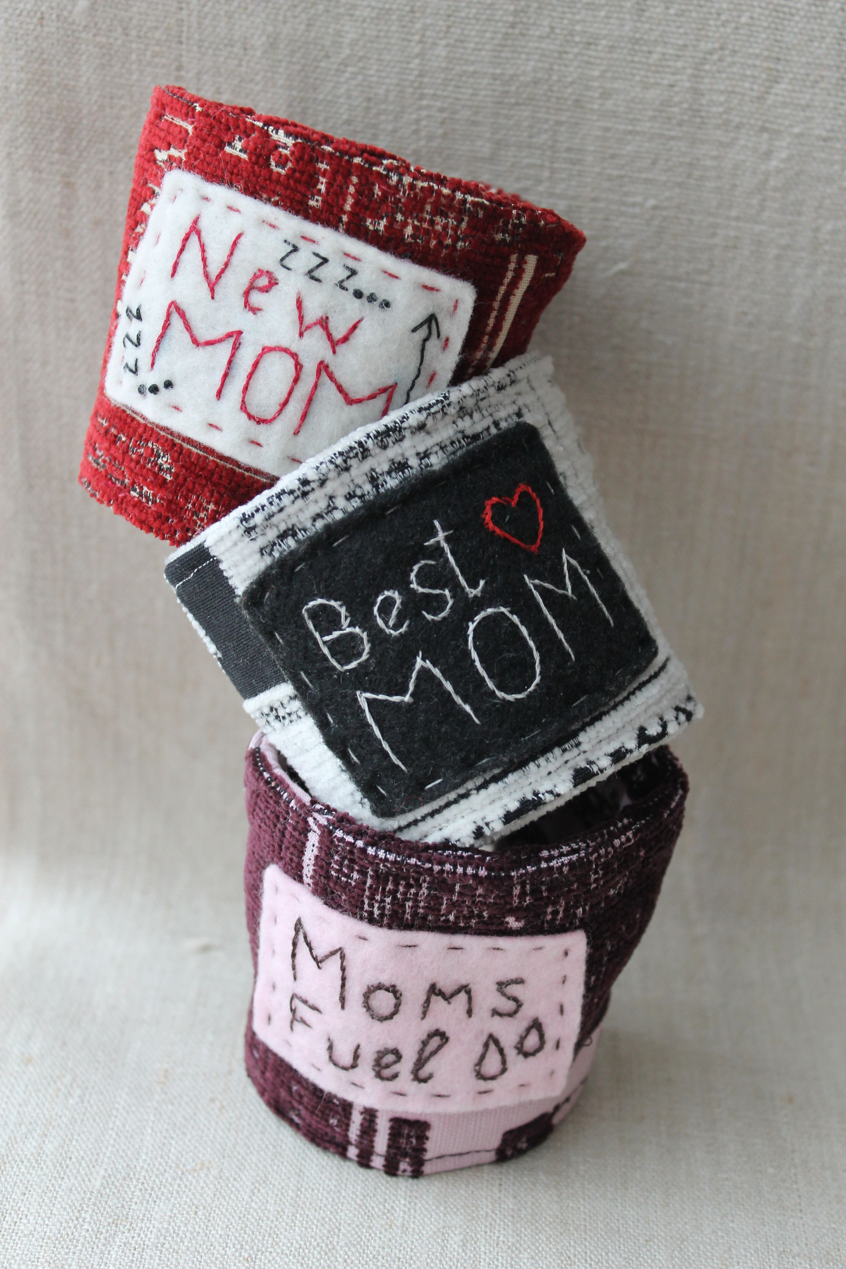 New Mom Cup Cozy/Coffee Cup Cozy/Coffee Cup Holder/Coffee