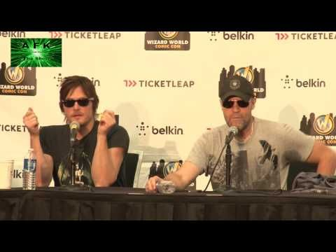 ▶ 2012 Austin Comic Con Walking Dead Panel with Norman Reedus and Michael Rooker - YouTube