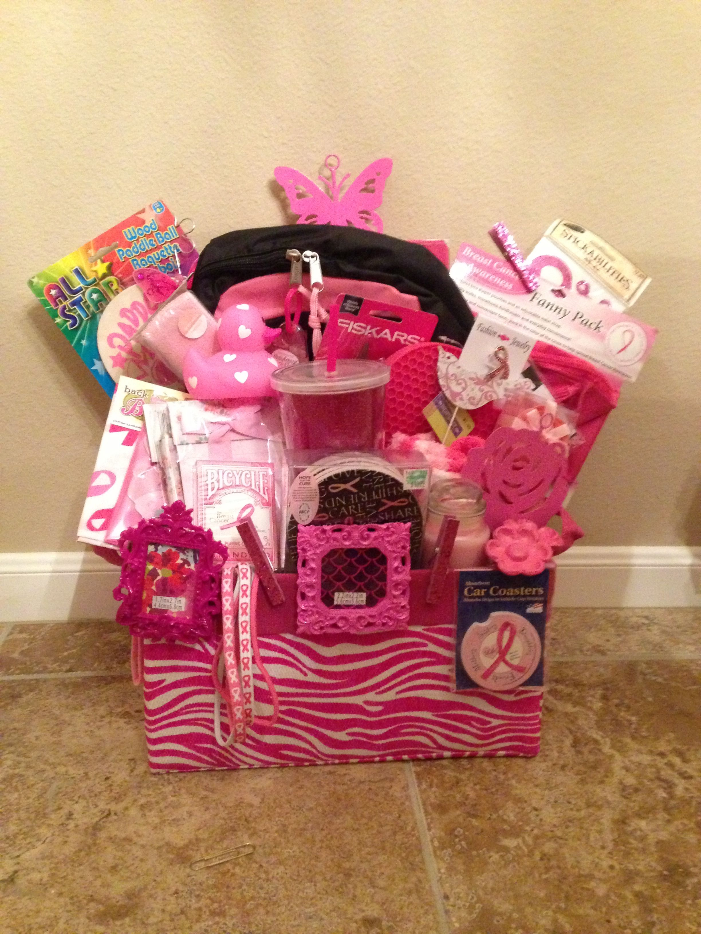 Think Pink Gift Basket Version 2 0 For Silent Auction
