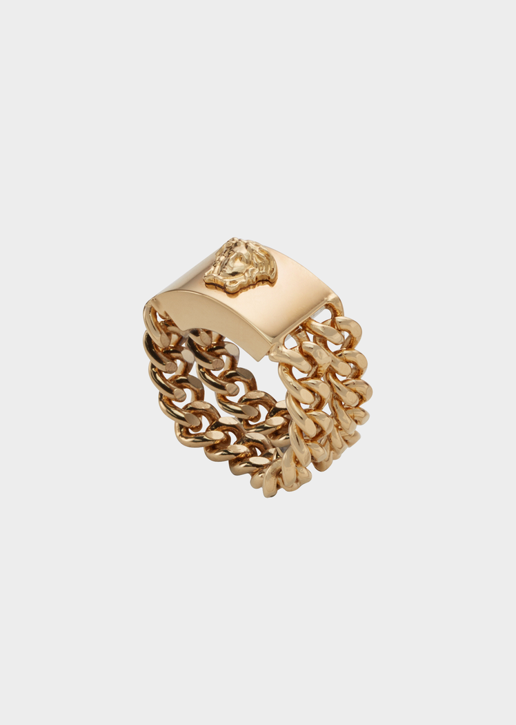 e330813015 Versace Medusa Plaque Chain Ring for Women
