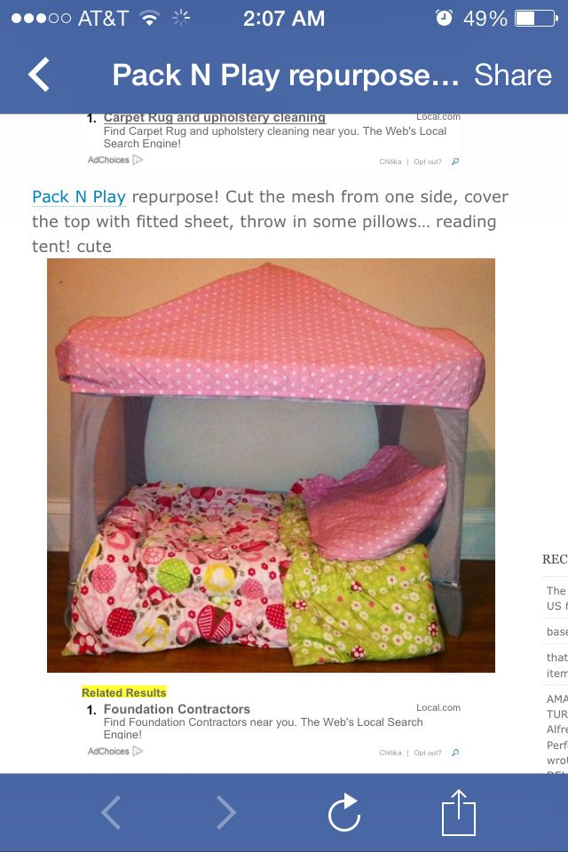 Repurposed pack-n-play. Pretty neat, little idea.