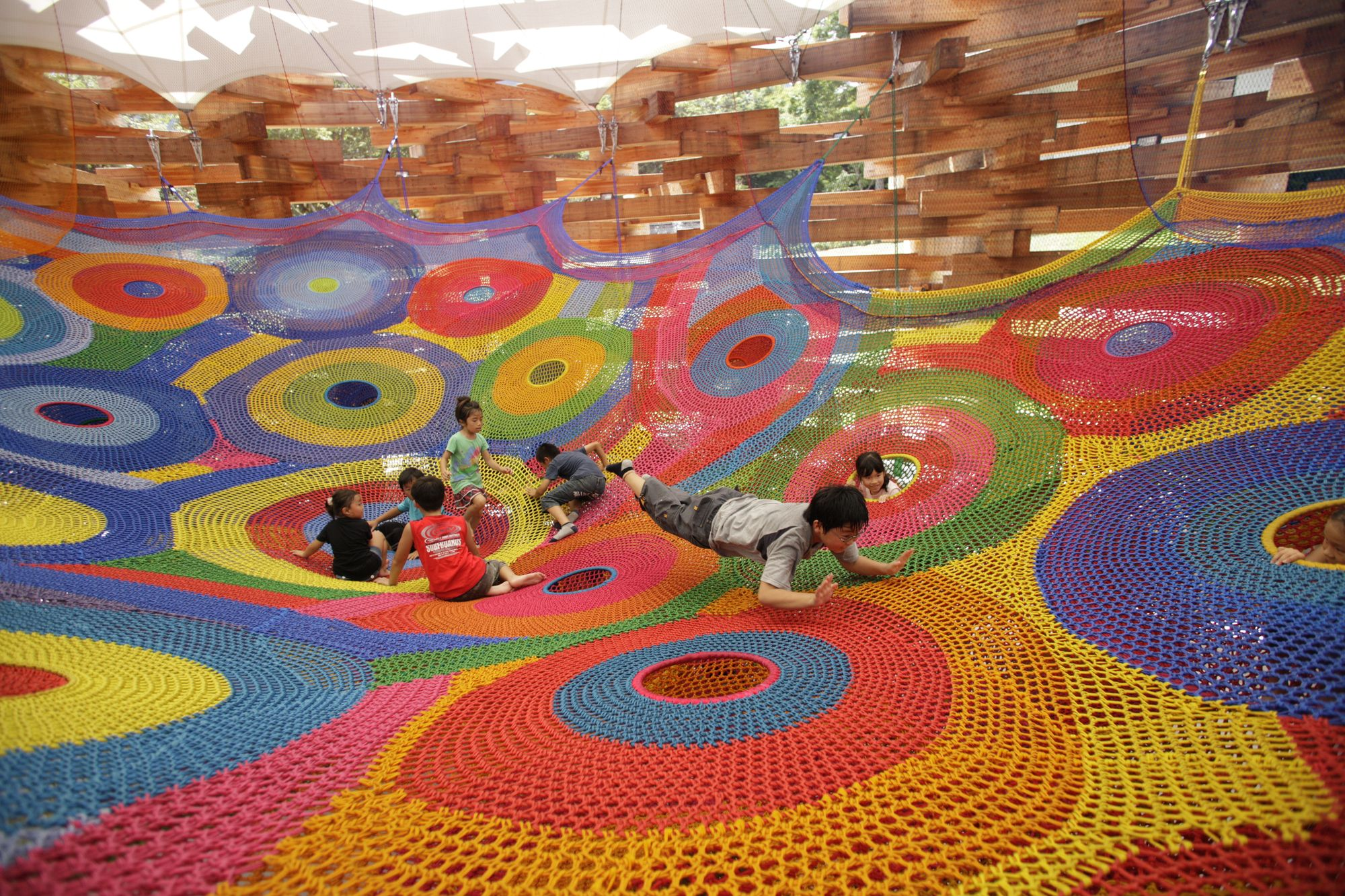 Meet the Artist Behind Those Amazing Hand Knitted Playgrounds