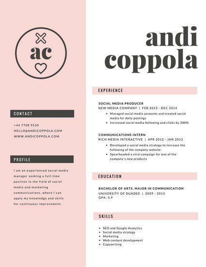 Cv Template Canva | 2 Cv Template | Cv template, Cv resume