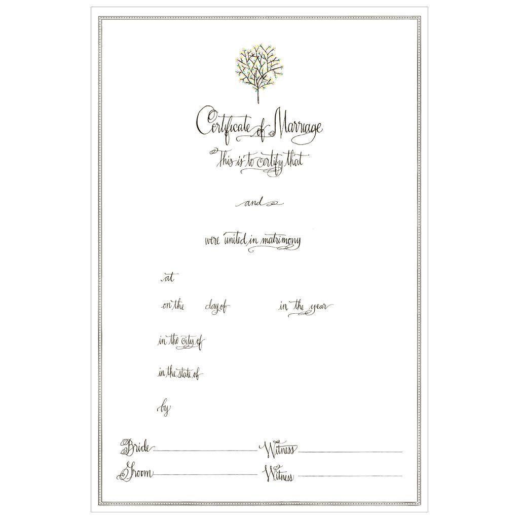 A Day In June Marriage Certificate Via Mr. Boddington's
