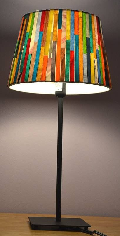 Diy Lighting Ideas Stained Glass Lamp Shades Lamp Shade Crafts Mosaic Lamp