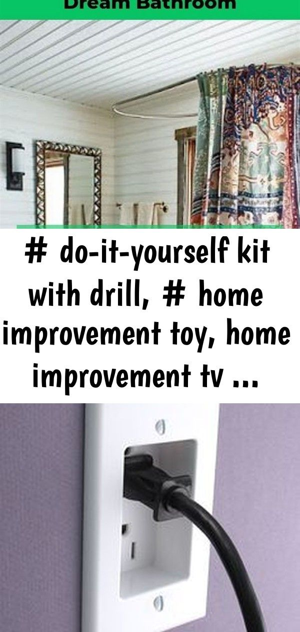 Doityourself kit with drill, home improvement toy