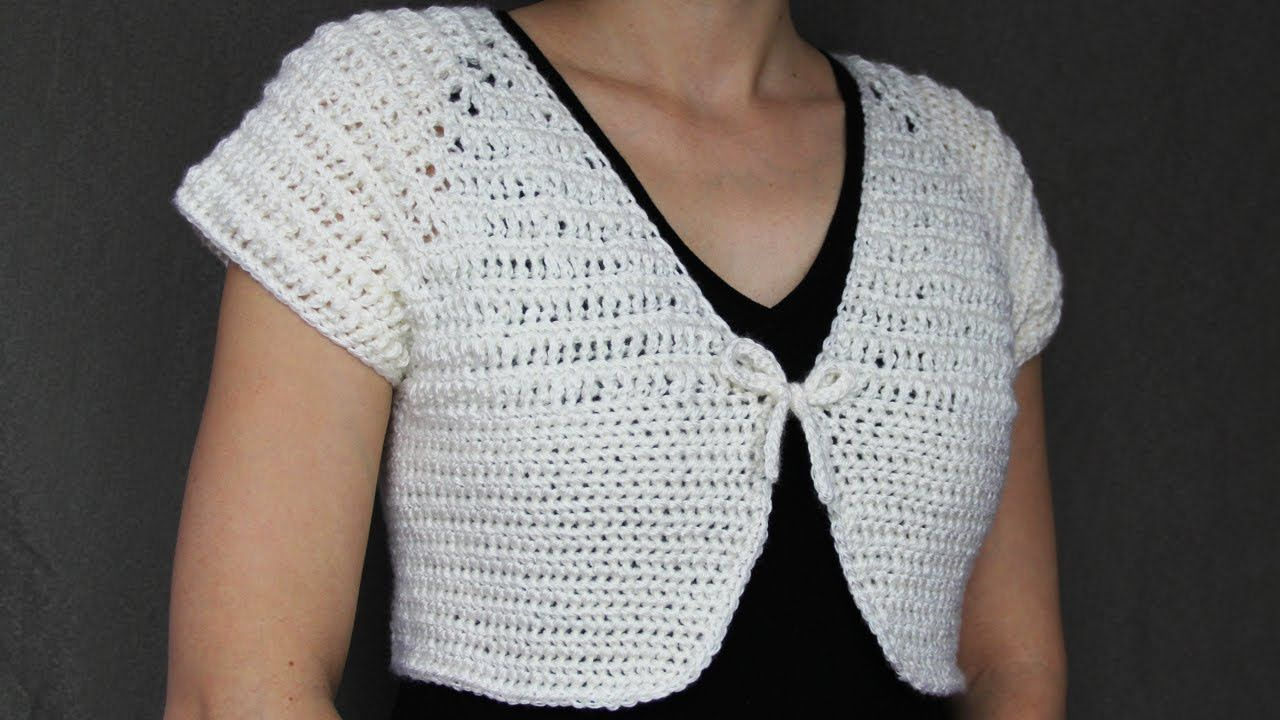 How to crochet a women\'s short top - video tutorial with detailed ...