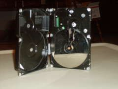 What a clever way to upcycle an old hard drive.