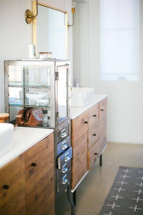 Stunning Industrial Bathroom Showcases Two Beautiful West Elm