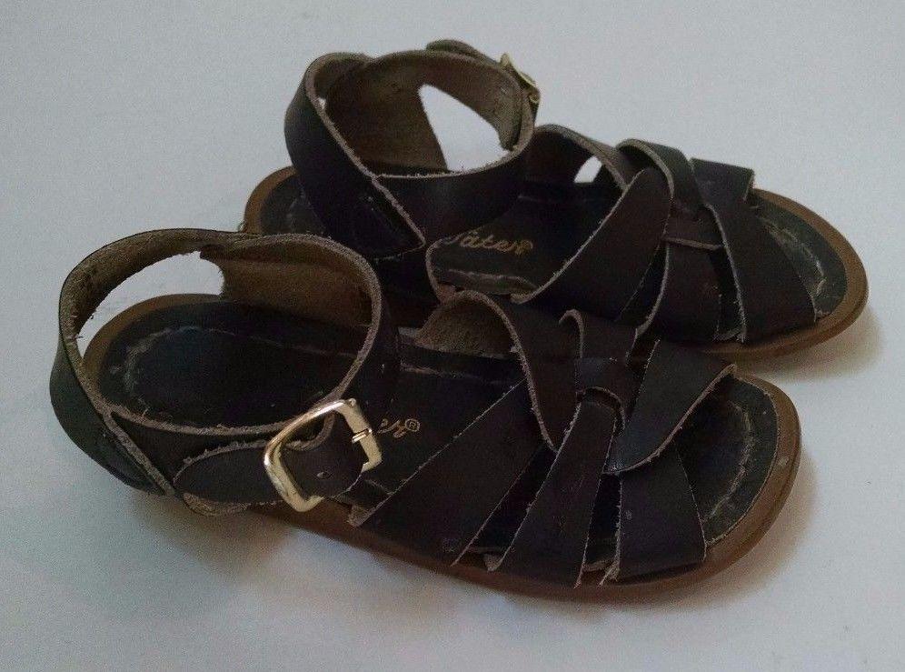 150922bb425f Hoyway Baby Girl Salt Water Sandals Size 8 Dark Brown Leather  Hoyway   Sandals