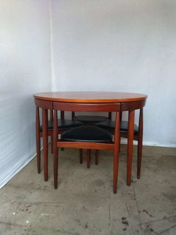 Midcentury 1950s Dining Set U0027The Roundetteu0027 By Hans Olsen For Frem Rojle Of  Denmark, Danish Teak And Rosewood Dining Table And Four Chairs
